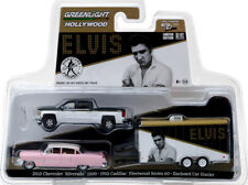 Chevy Silverado 1500 + Cadillac Fleetwood + Hauler Elvis 1:64 GreenLight 31020