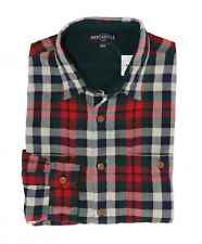4c066905a1a5c J.CREW Mercantile Mens S Slim Fit Navy red Plaid Double Layer Flannel Shirt