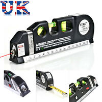 Pro Laser Level Horizontal Vertical 3 Line Meter Tape Ruler Scale Measure Tool