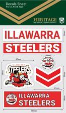 NRL Sticker Decal Sheet - Illawarra Steelers  - Stickers Wordmark - Heritage