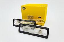 BMW E12 E30 E23 E24 E28 Z1 Number License Plate Lights Lamps Set Pair OEM Hella