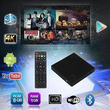 1G+8GB X2 Android Smart TV BOX 4K Quad Core Internet Free Movies Media Player