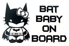 Hello Kitty Batman Chauve-Souris Bébé à Bord Autocollant Vinyle Autocollant 100x160mm - 23 Couleurs