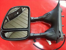 99-07 Ford Super Duty pickup NEW driver side power tow mirror w/o heat 128-623L