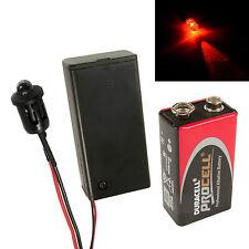 Flashing Red Dummy Fake Alarm LED Enclosed PP3 Holder + Battery, Car, Boat Kit