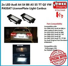 2x LED License Plate Housing For Audi A4 S4 B8 A5 S5 TT Q5 VW PASSAT ERROR FREE