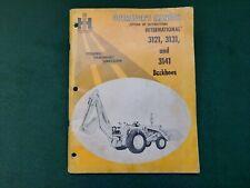 International 3121 3131 3141 Backhoes Operators Manual