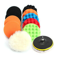 "11Pcs 3"" Waffle Buffer Polishing Pad Set For Car Polisher  Z2K3 Q3C0 W7R3 M2H7"