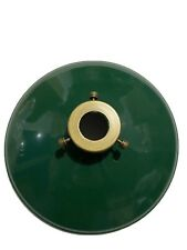 "10"" DIAMETER GREEN CASED OPAL CONE SHADE"
