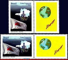 3092-93 BRAZIL 2009 MINAS GERAIS VH, CHURCHES, FLAGS,MAPS,WORLD,PERSONALIZED MNH