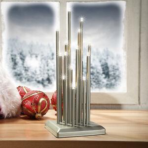 LED Lichterbogen Advent Weihnachtsleuchter Quadrat Perlmausgrau SL48-1 B-Ware**