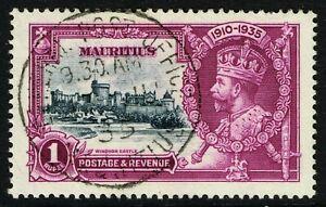 SG 248 MAURITIUS 1935 JUBILEE - 1r SLATE & PURPLE - USED