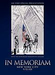 In Memoriam - NYC 9/11/01 (DVD, 2002) Sealed Fireman Police FDNY NYPD