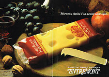 PUBLICITE ADVERTISING  1979   ENTREMONT  emmenthal fromage  (2 pages)