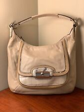COACH Kristin Spectator Leather Hobo Tote Bag 16803 Ivory Multi