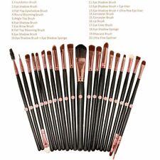 Set  20 Brochas de Maquillaje Makeup Mujer Belleza Labios Ojos Eyeshadow Eyeline