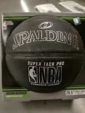 Spalding Nba Composite Leather Basketball 29.5 Super Tack Pro Indoor/Outdoor New