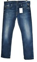 Mens Replay WAITOM Slim Straight Fit Regular Dark Blue Jeans W34 L32