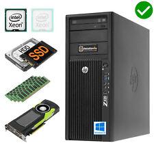 ⑧ -core hp Z420 Workstation Xeon E5-4650l SSD 240gb Quadro 600 Ram 16gb Win10