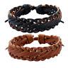 Fashion Handmade Unisex Leather Braided Cuff Bangle Wristband Bracelet Jewelry