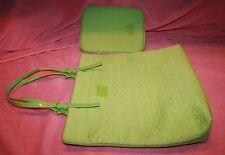New Neoprene Lime Micheal Kors Tote Handbag Purse & iPad Cover