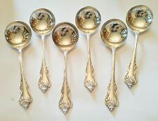 Nenuphar Water Lily Silver Plate Small Bouillon Ice Cream Spoon Lot of 6