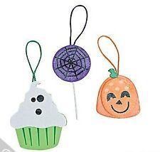 3 Foam Halloween Sweet Treat Ornament Craft Kit. Great Kids Fun!