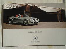 Mercedes SLK brochure 2007 Canadian market English text