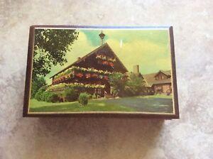 Vintage Trapp Family Lodge Stowe Vermont Small Cedar Box Souvenir