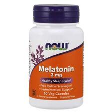 NOW Foods MELATONIN Sleep Aid 3 mg - 60 vegetarian capsules