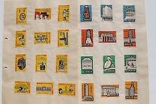 23767 24 Zündholz Etiketten Vignetten Berlin 15 Jahre Hauptstadt der DDR 1964