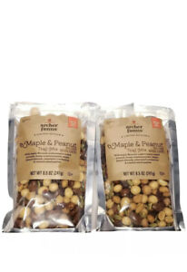 Lot of 2 Archer Farms Maple & Peanut Trail Mix Limited Edition Fall Flavors