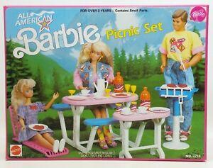 1990 Mattel All American Barbie Picnic Set No. 7224 NIB