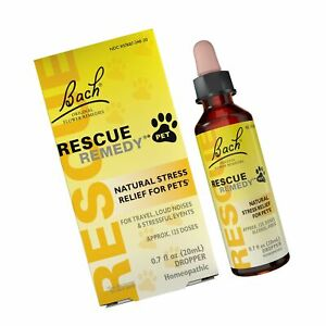 RESCUE Natural Homeopathic Stress Relief Drops for Pets 0.68 Fl Oz (Pack of 1)