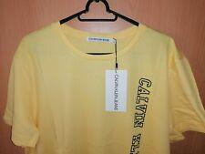Herren T-Shirt  Calvin Klein  Gr L   Gelb NEU  LOGO Freizeit Schick Modern