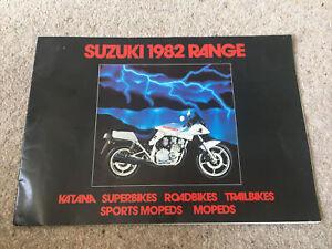 Suzuki 1982 Range brochure Motorbikes