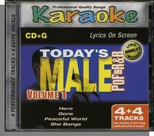 Karaoke CD+G - Today's Pop & R&B Male, Vol 1 - New 4 Song CD! Peaceful World