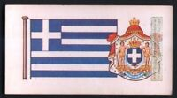 Flag And Standard  Banner For Greece c50 Y/O Trade Ad Card