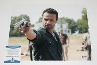 ANDREW LINCOLN SIGNED 11x14 PHOTO BECKETT BAS COA 4 THE WALKING DEAD RICK GRIMES