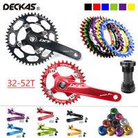 DECKAS 104bcd 32-52T Narrow Wide 7075 Aluminum Crankset Bike Crank Chainring BB