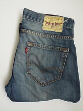 LEVIS 504 JEANS MENS REGULAR STRAIGHT LEG W30 L30 MID BLUE STRAUSS LEVM728