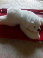 Peluche doudou ours polaire blanc, 35 cm