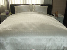 100% Silk Seamless Jacquard / Charmeuse 1 Duvet Cover & 2 Pillowcase Set - Queen
