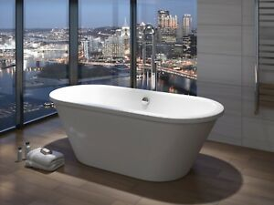 British Baths Shearwater  Skirted Freestanding Bath - White Gloss Outer 1700mm