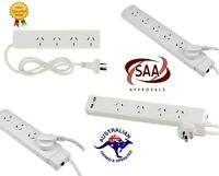 4/6 Way Socket Outlet Surge Protector PowerBoard PowerPoint Lead USB Port Cord