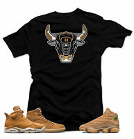 Shirt to match Jordan Golden Harvest OG Wheat Gold 6 1 13.The Bull Black Tee