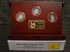1 KRÜGERRAND INVESTMENT COIN SET - 2013 - GOLD - ROSE GOLD - SILBER - SELTEN !!