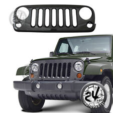 07-18 Jeep Wrangler JK Grille Grill Black ABS Carbon Fiber Look Packaged W/Shell