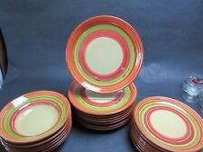 """(6) Pier 1 Imports VIA Dinner Plates 11 1/4"""" Hand Made & Painted Portugal"""