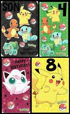 POKEMON ~  BIRTHDAY CARD ~ Great graphics inside and Out